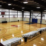 One regulation sized court with additional space